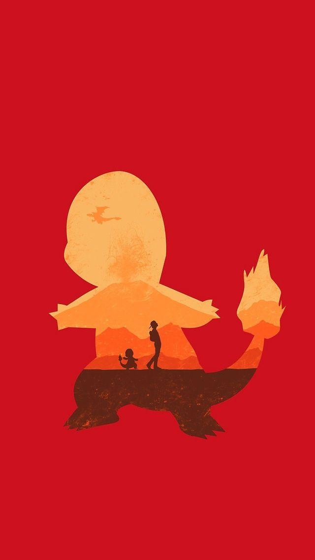 Charmander Silhouette Pokemon Creative Art Pokemon Firered