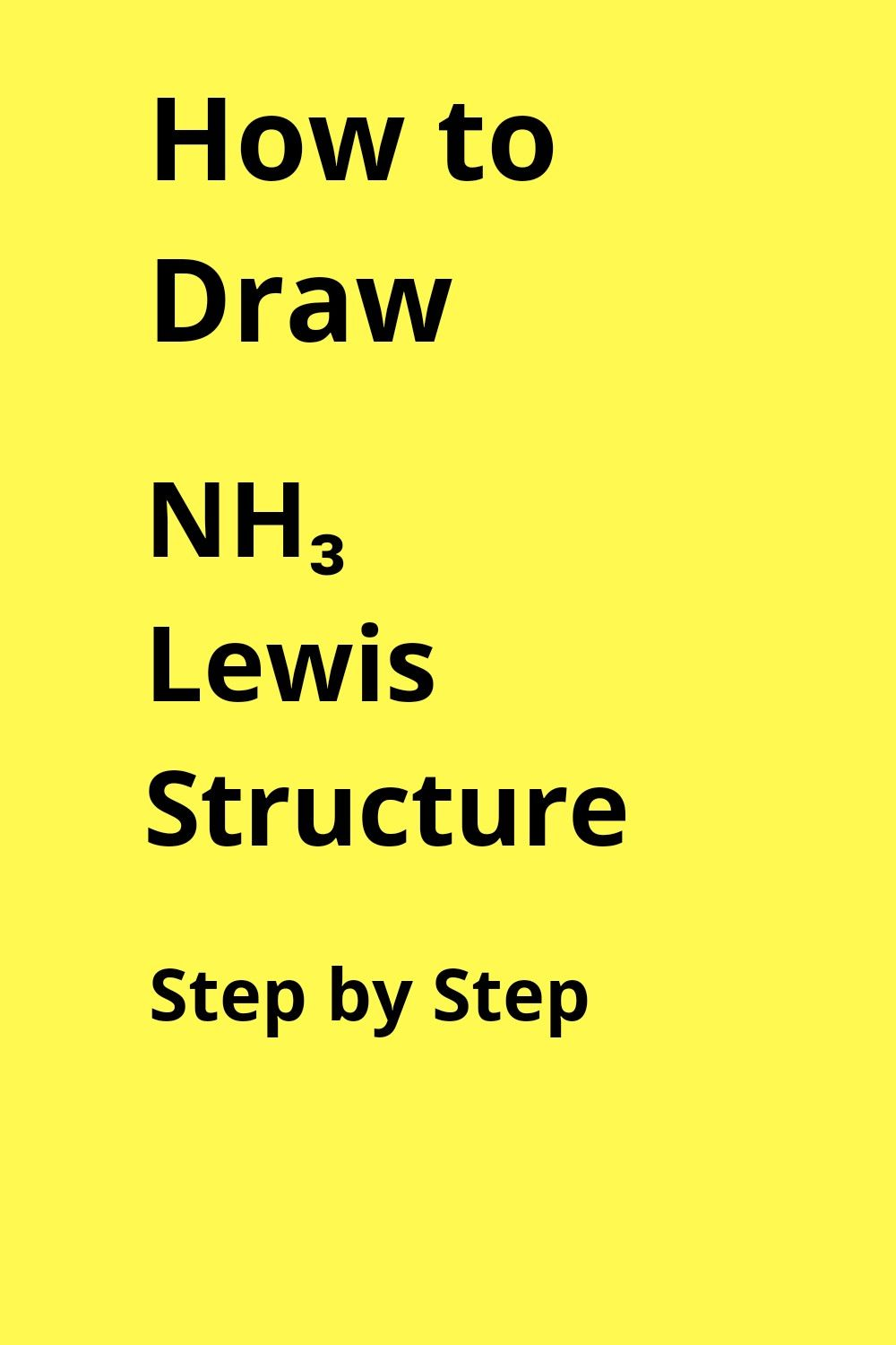 Nh3 Lewis Structure In 2020 Lewis Electron Configuration Chemistry Worksheets