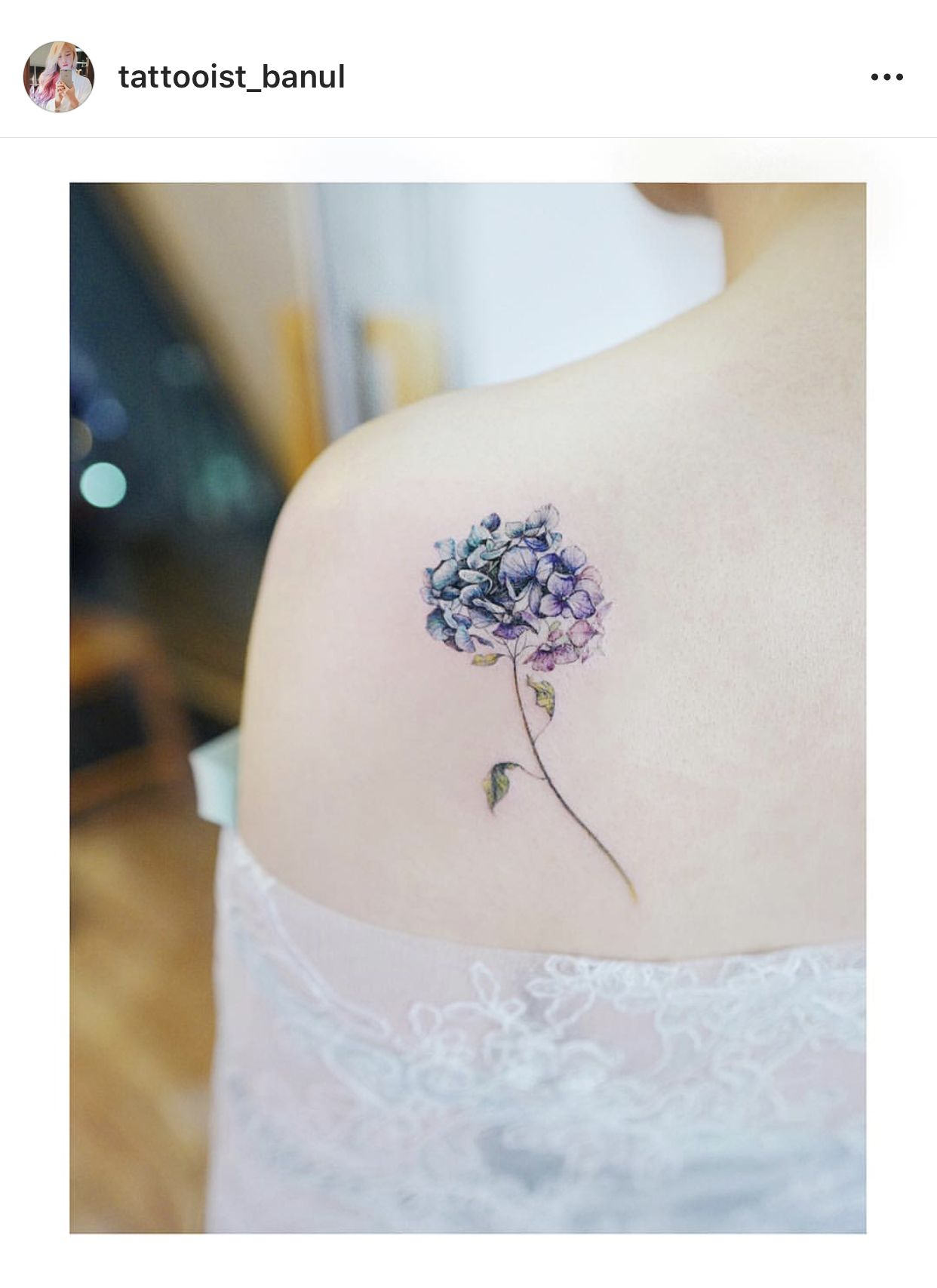 Hydrangea Tattoo Elegant Tattoos Shoulder Tattoos For Women Flower Wrist Tattoos