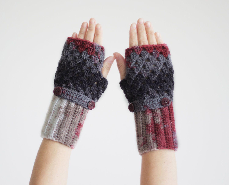 Crochet Fingerless gloves Fingerless mittens in by SENNURSASA, $25.00    I love these!!