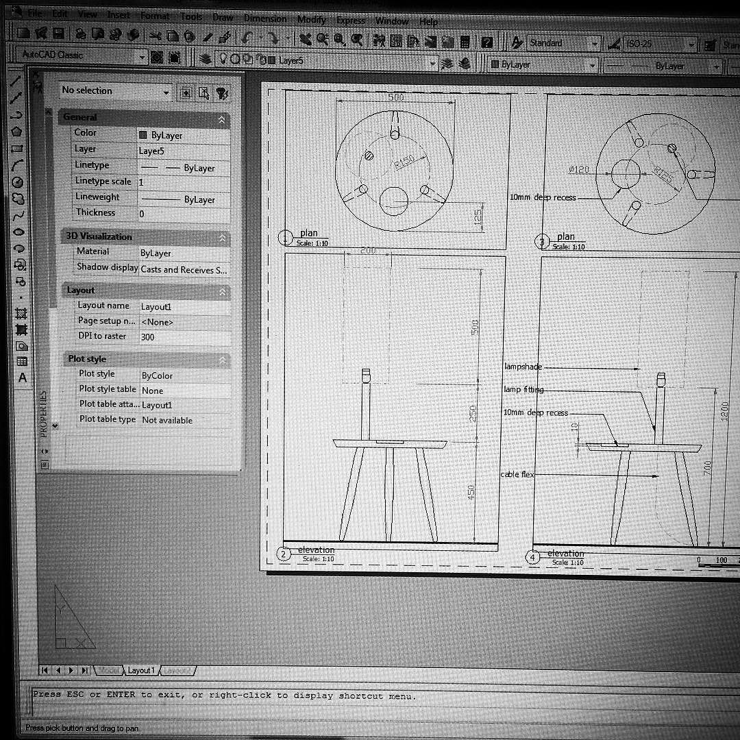 Tweaking the design for the lamp table. All those years of architectural experience on CAD is not wasted. #furniture #design #cad #newproduct #wood #midcentury by hokolo_london