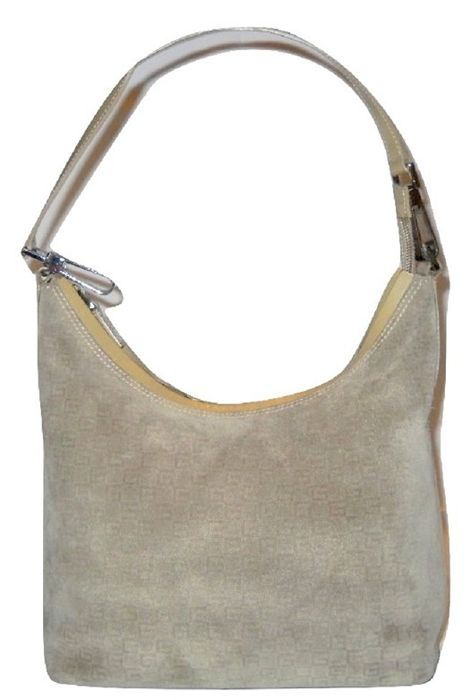 dbee8a5593e Gucci Tote tas geen minimale prijs Vintage Gucci schoudertas in beige suede  leer met gedrukte patroon