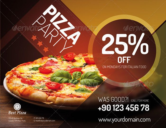 flyer for pizza restaurant food inspiration pinterest pizza