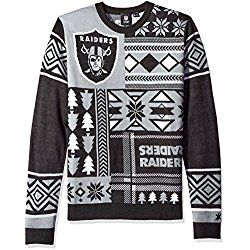1fdb00392 NFL Oakland Raiders Patches Ugly Sweater