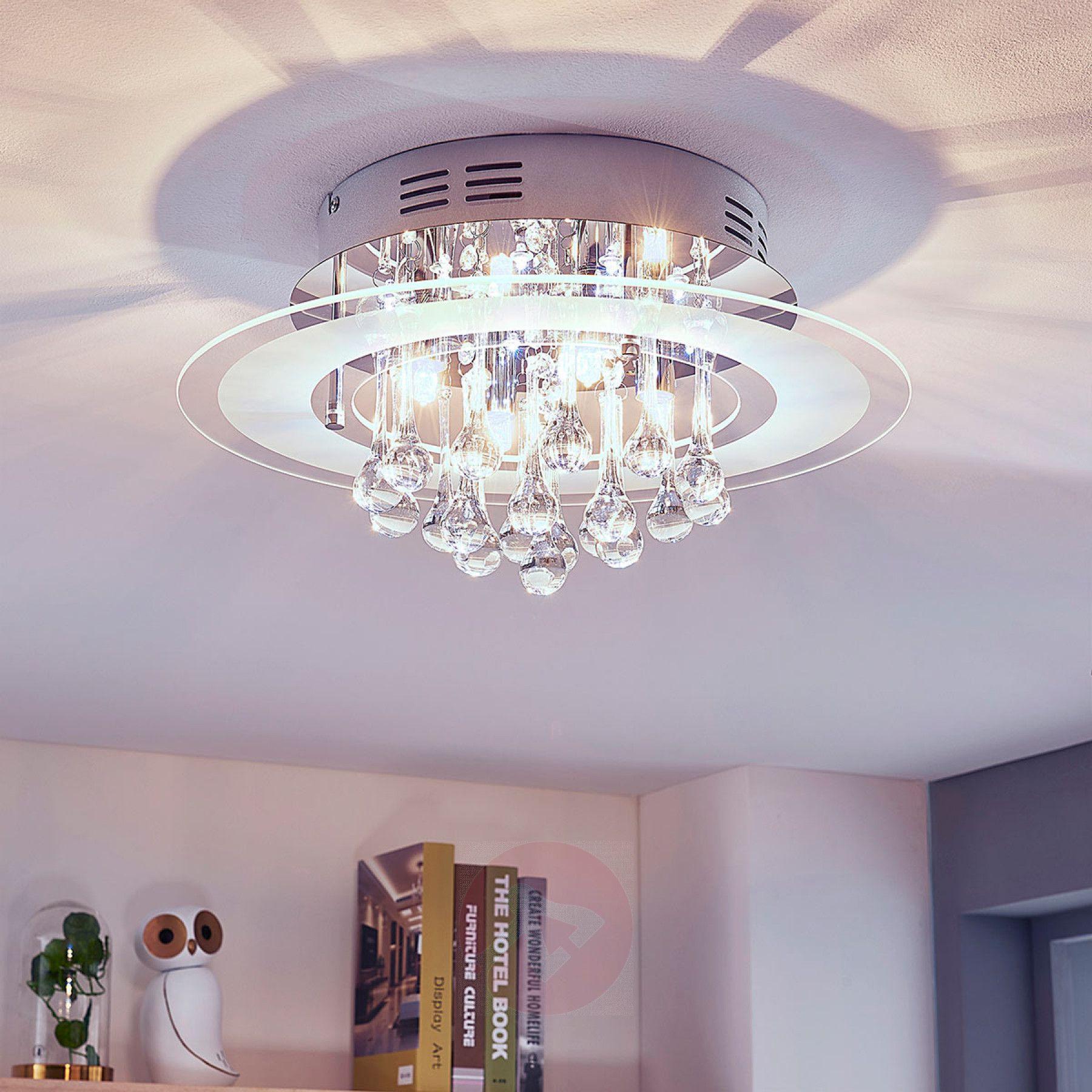 Sparkling ceiling light Varin with blue LEDs962180301