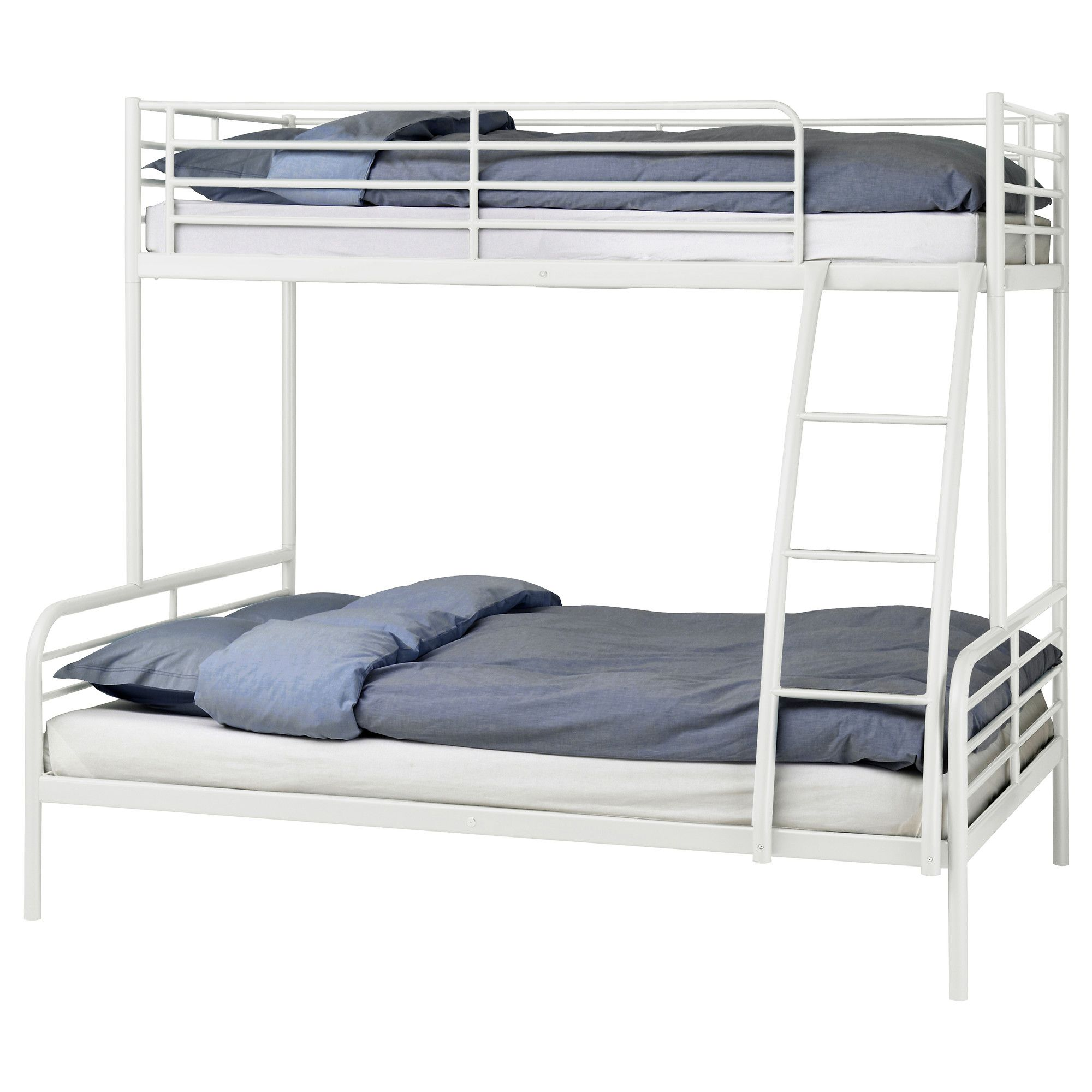 Cheep Option For Guest Bedroom TROMSO Bunk Bed Frame White Length 78 Width 57 Min