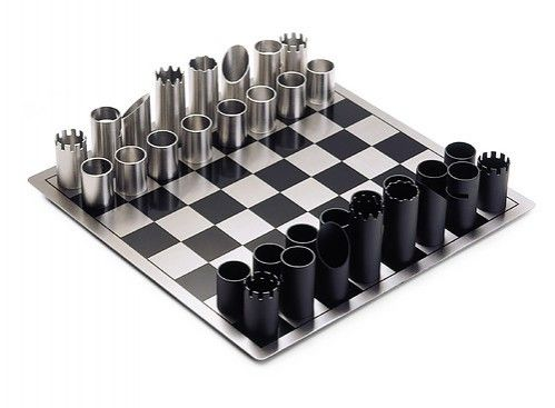Steel Chess Set stainless steel chess set / philippi / flip design | chess