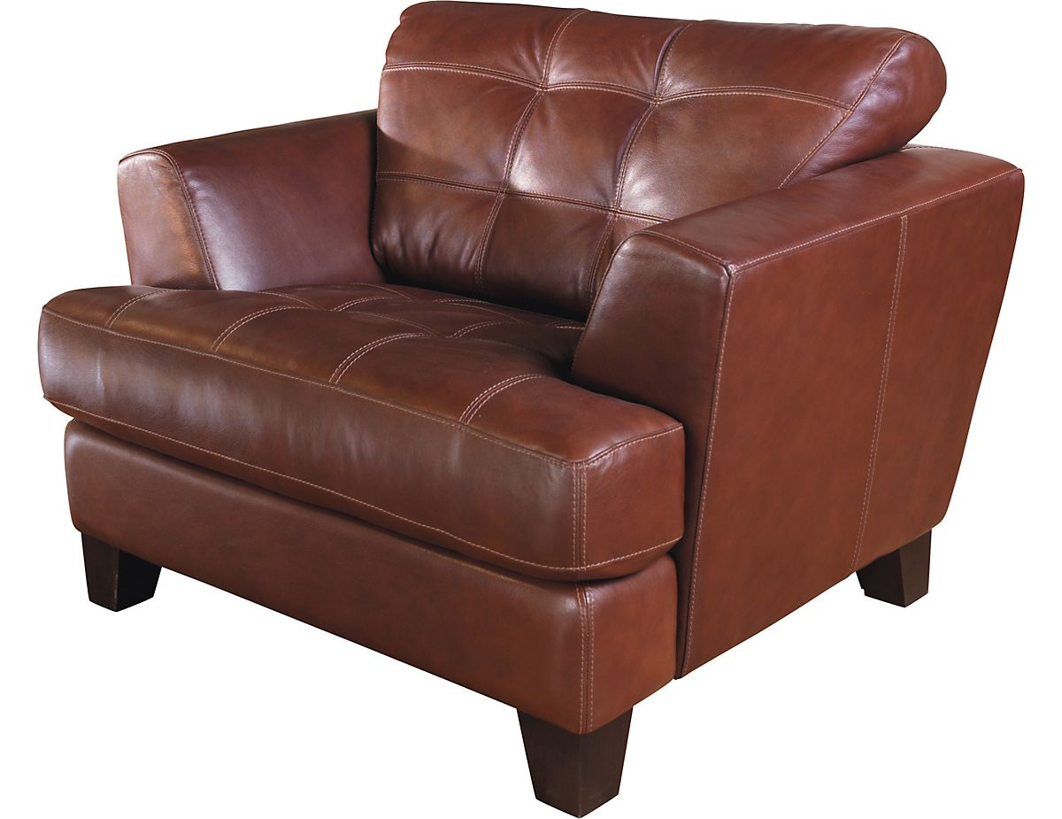 Avenue Genuine Leather Chair Brown Aven3b C The