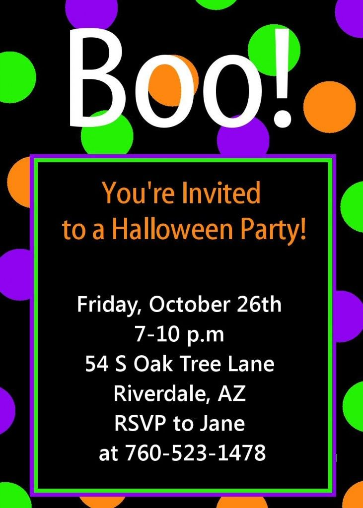 Free Printable Halloween Invitation Template