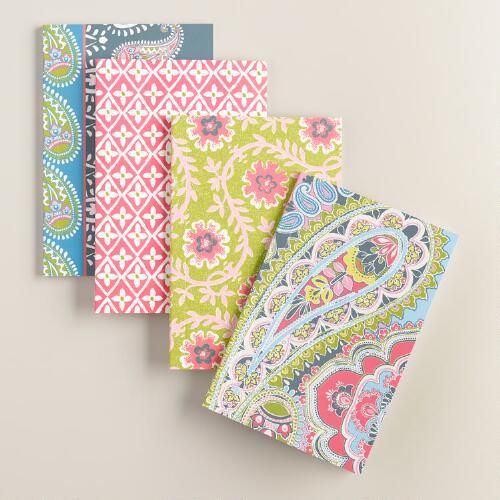 One of my favorite discoveries at WorldMarket.com: Paisley Boxed Notebooks 4…