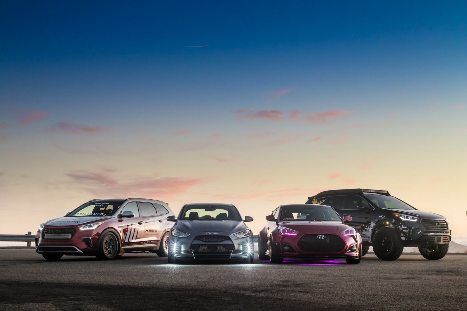 Hyundai Heats Up Five Cars For Sema Plus New Skunkworks Race Concept Carscoops Hyundai Hyundai Veloster Racing
