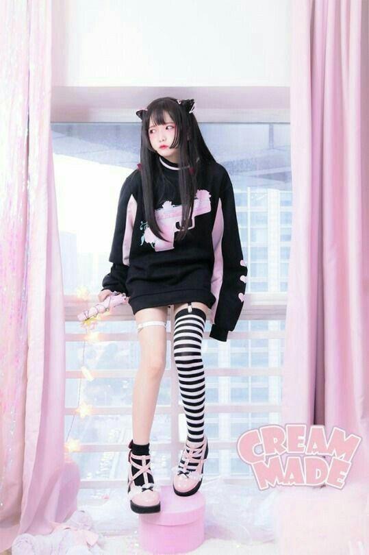 Women Punk Gothic Skirt Ulzzang Harajuku Korea Japan Girl Kawaii Clothing Black
