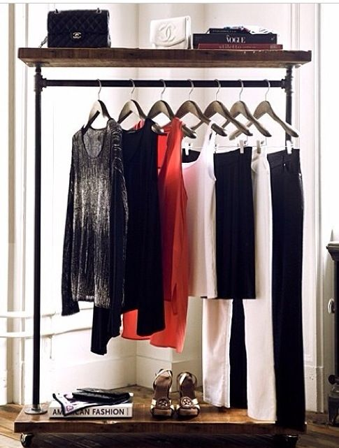 Buildable Clothes Rack For Temporary Wardrobe And Closet E