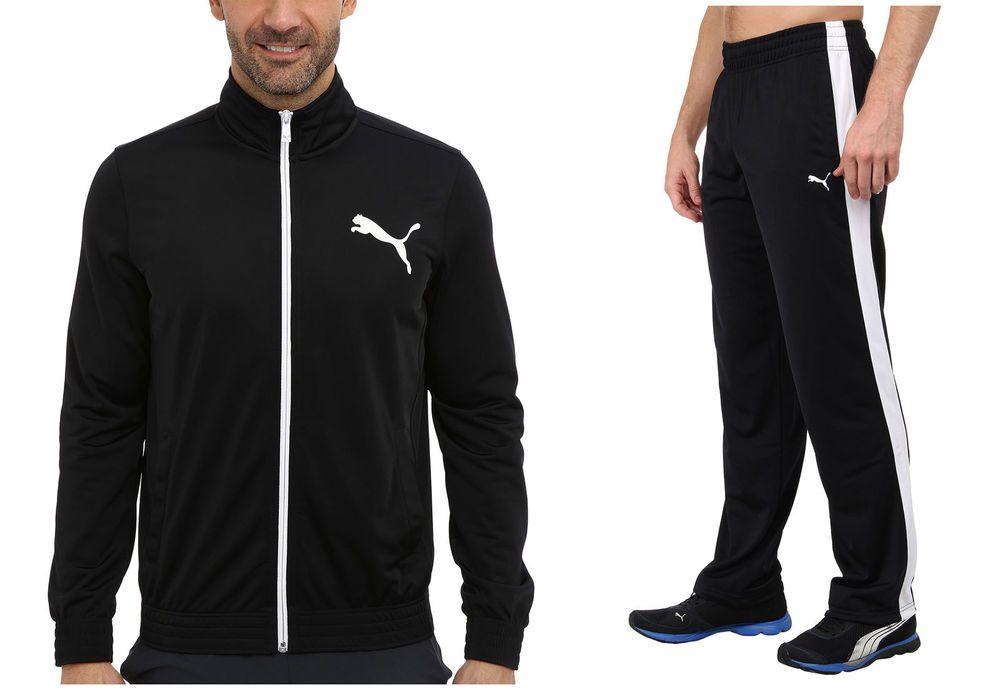 Puma MENS Gym Contrast Tricot Black