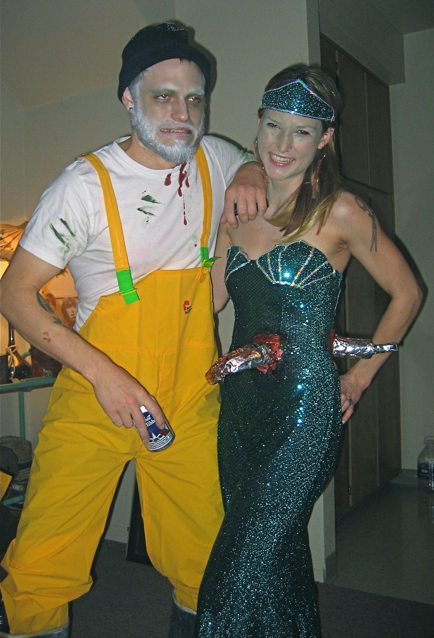 Halloween costume #mermaid#fisherman#couple#costume#homemade ...