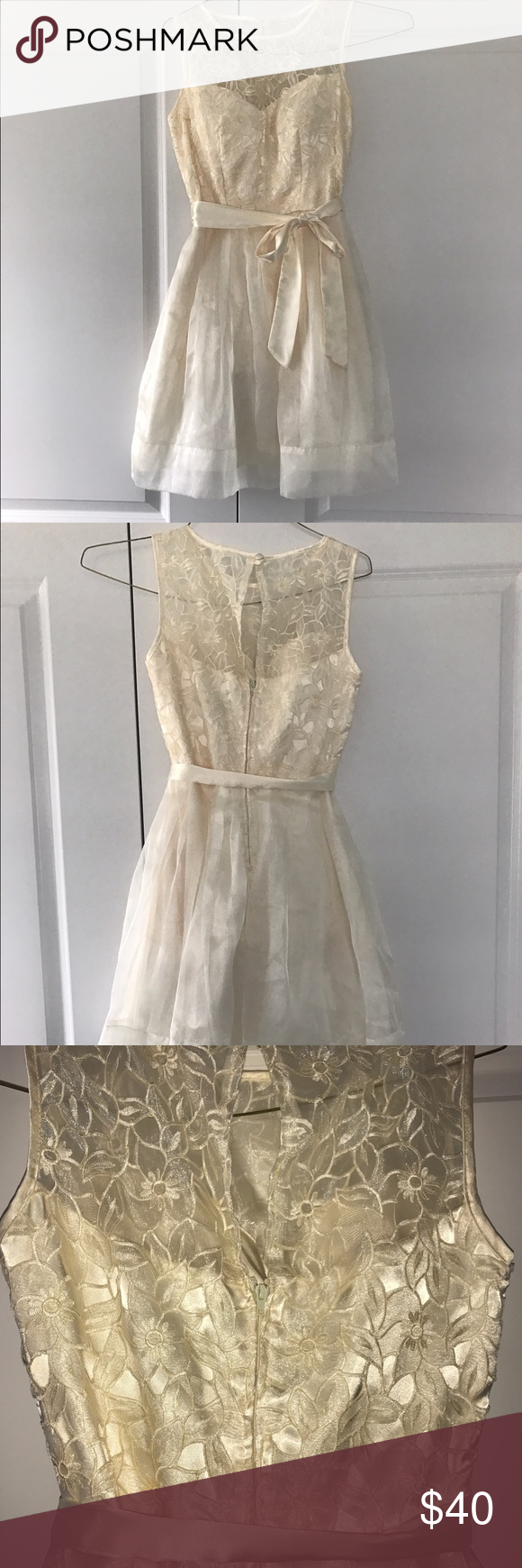 Cream high neck formal dress formal prom and dress prom