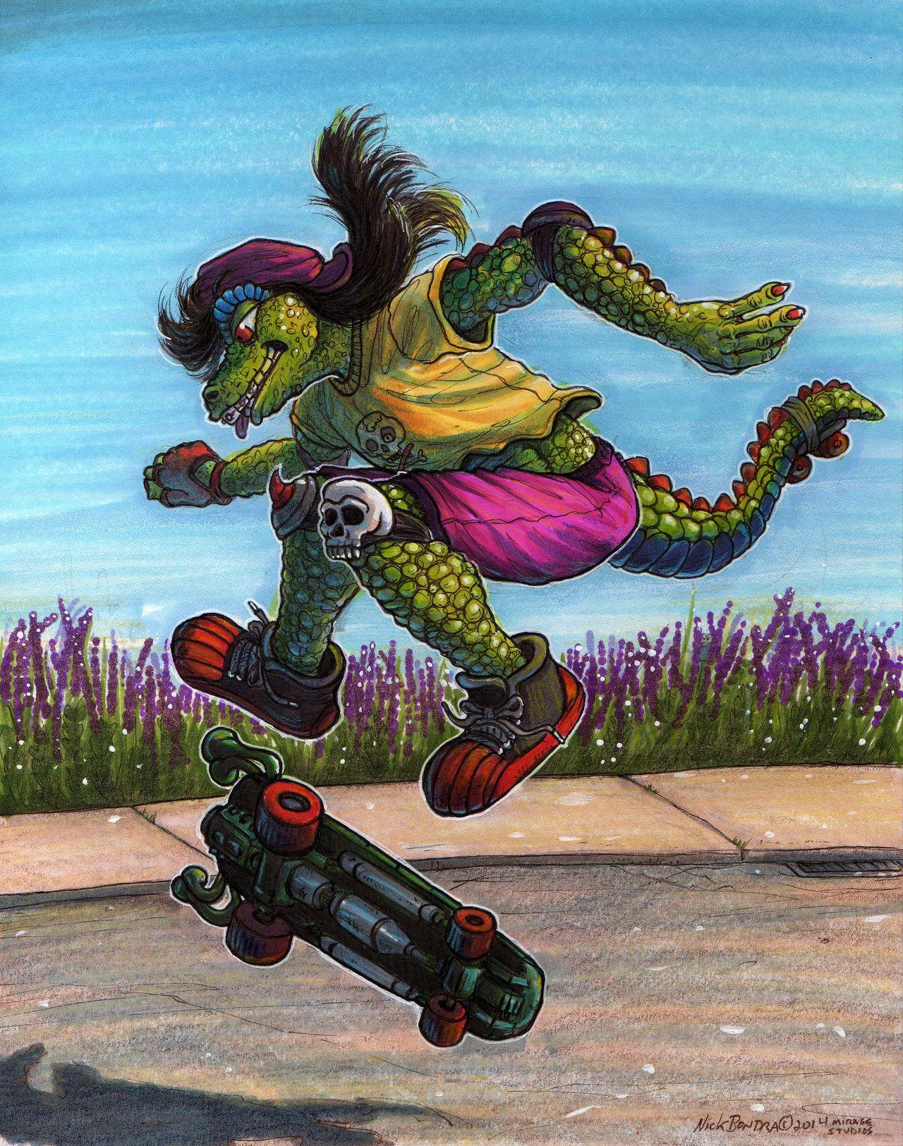 ~ TMNT Ninja Turltes PALM SKATEBOARD
