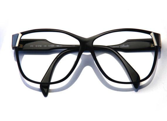 14bba786ce53 cherryREVOLVER 80s Eyeglasses Men or Women SILHOUETTE SPX Black Gold Thick Frames  Gold Accents by Si