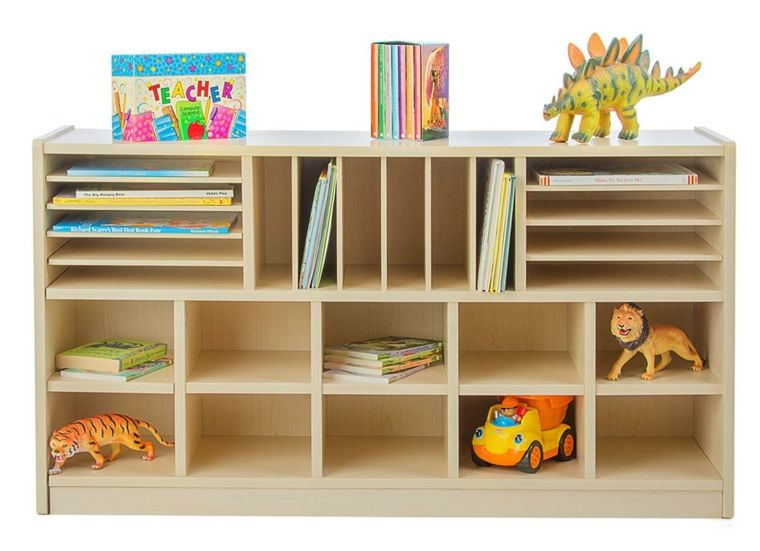 Estanter as para habitaciones infantiles 50 ideas - Estantes para guardar juguetes ...