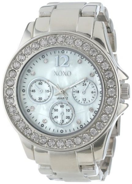 XOXO Women's XO5652 Silver-Tone Bracelet Analog Watch
