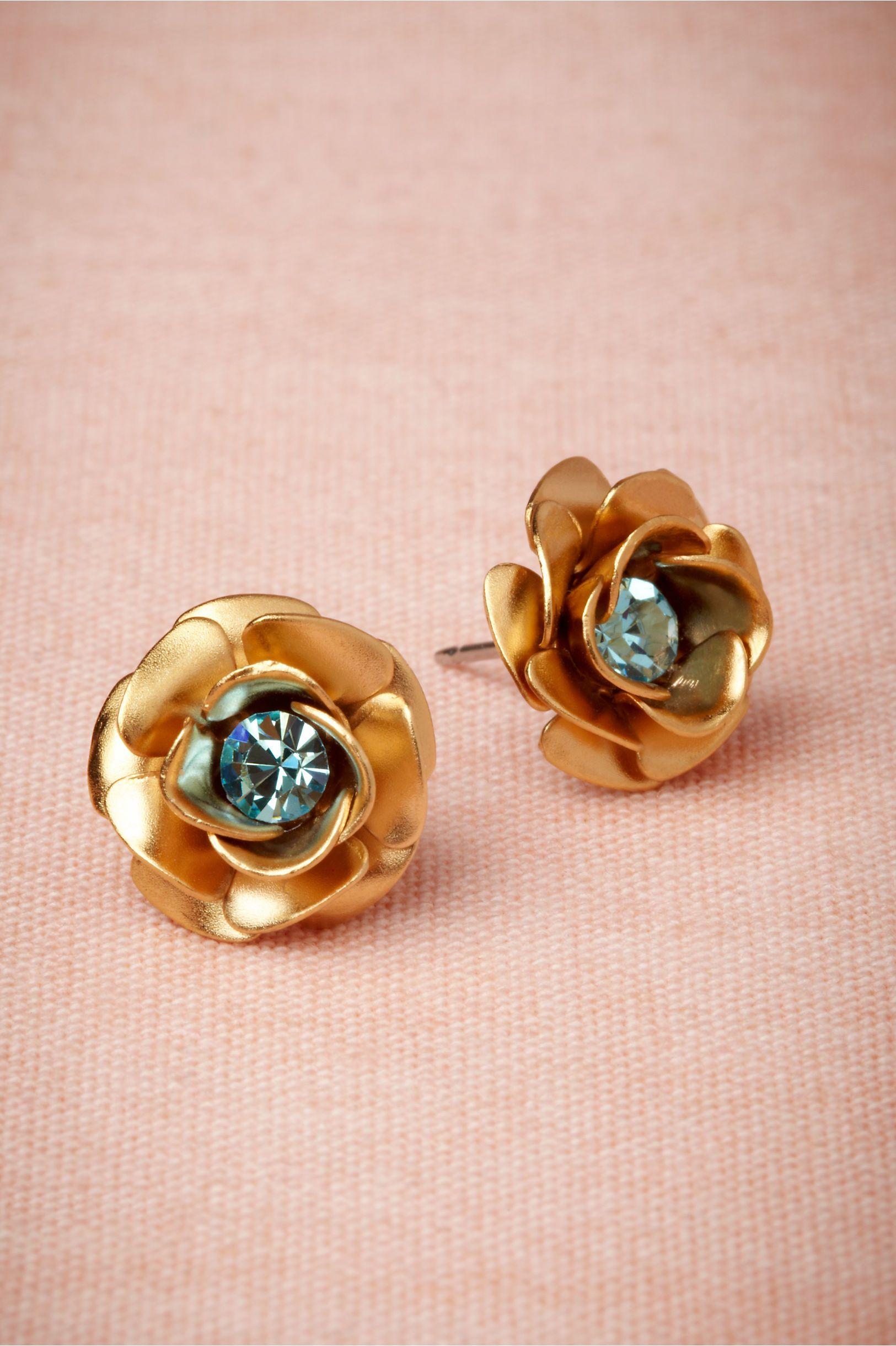 Golden Rose Earrings from BHLDN   Summer Wedding Ideas   Pinterest ...