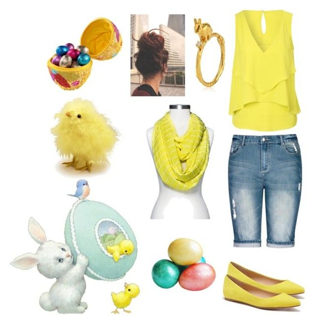 """Easter holiday"" by musicmelody1 ❤ liked on Polyvore featuring Godiva, Jane Norman, Joe's Jeans, Alex Monroe, Merona and Boston International"