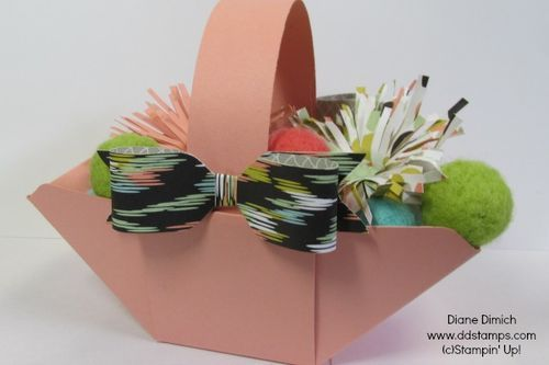 Stampin' Up!'s Envelope Punch Board~ makes a basket too!