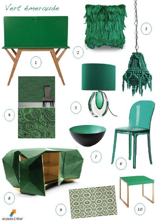#Pantone #Emerald #Vert #Emeraude color  a selection of