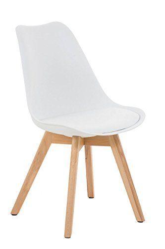 CLP Design Retro Stuhl BORNEO mit Holzgestell natura