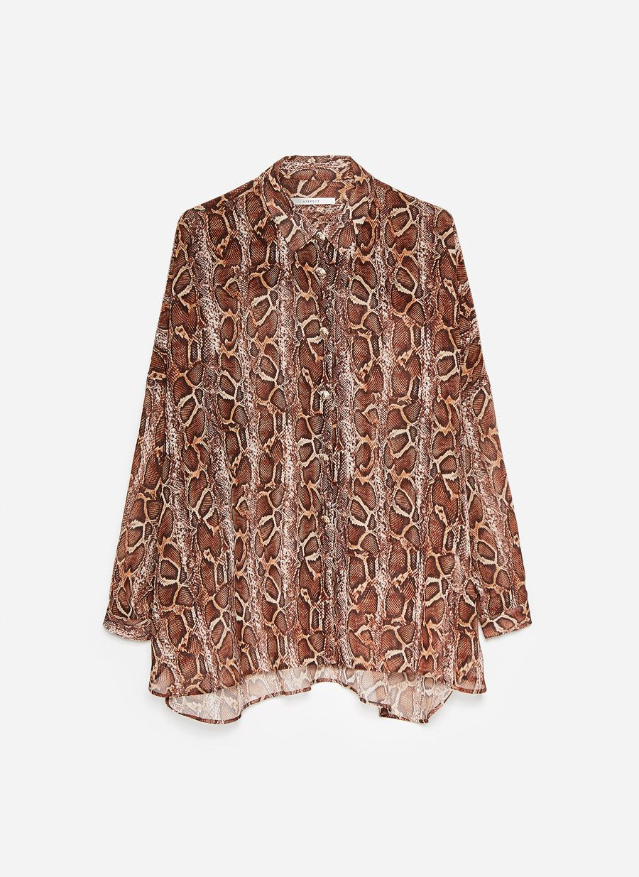 303bbb1507744f Snakeskin print shirt - View all - Shirts and blouses - Ready to wear -  Uterqüe