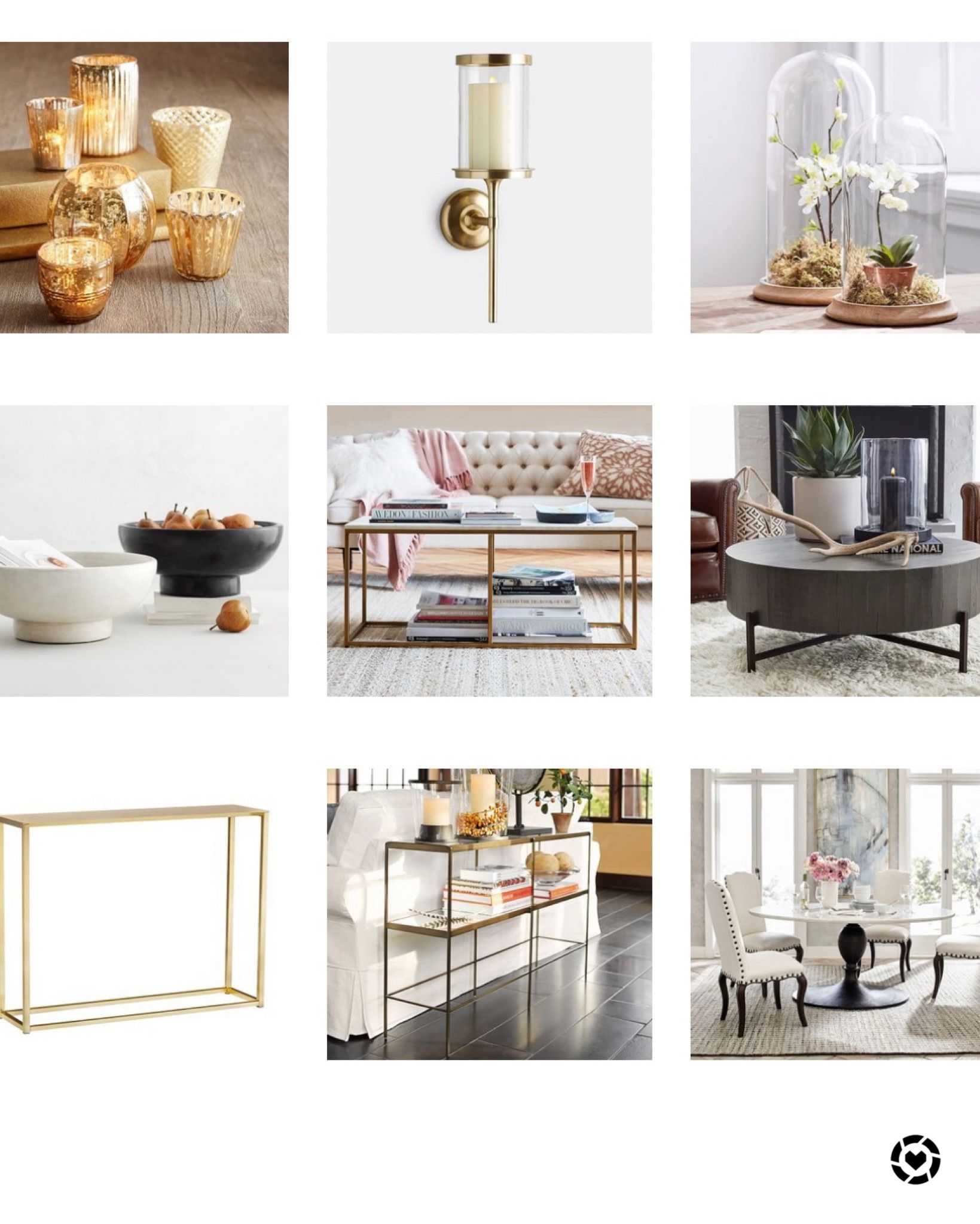Pottery Barn home accessories! 2019 in 2020 Gold home