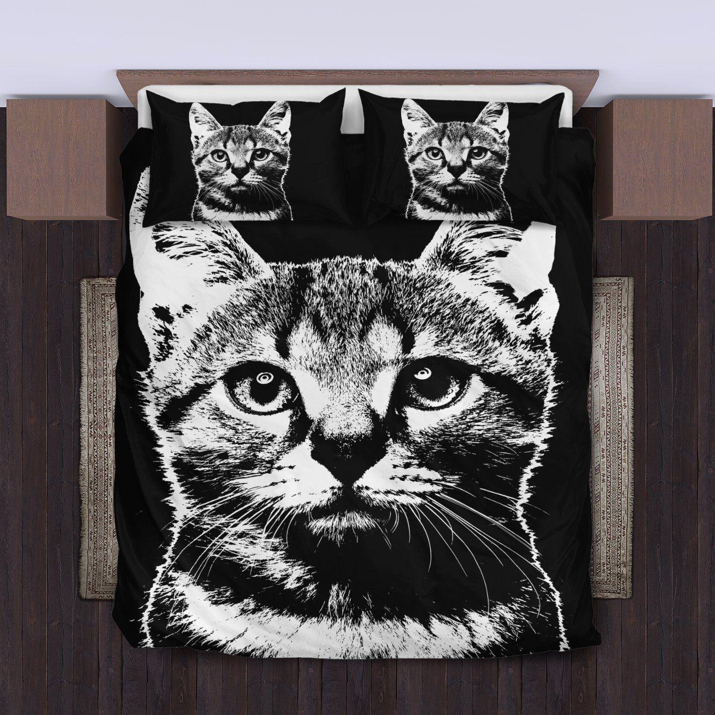 Cute cat bedding set 1 duvet cover and pillowcase set