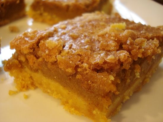Pumpkin Crumb Cake Made With Yellow Mix Puree