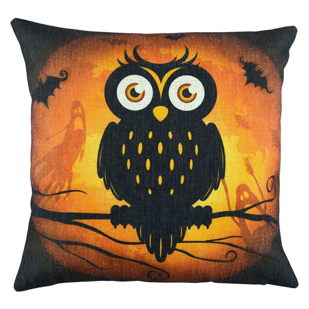 Halloween. 2020 17.99 OWL Pillow Cover / Was 17.99 in 2020 | Halloween accent pillows