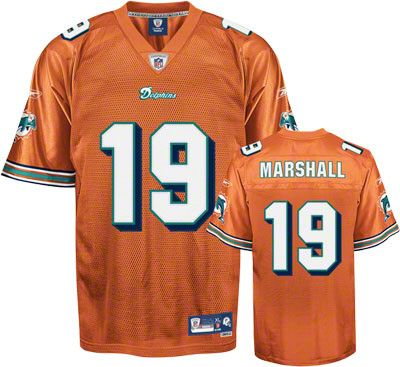 Reebok Miami Dolphins Brandon Marshall 19 Orange Authentic Jersey Sale 0e37b4c10