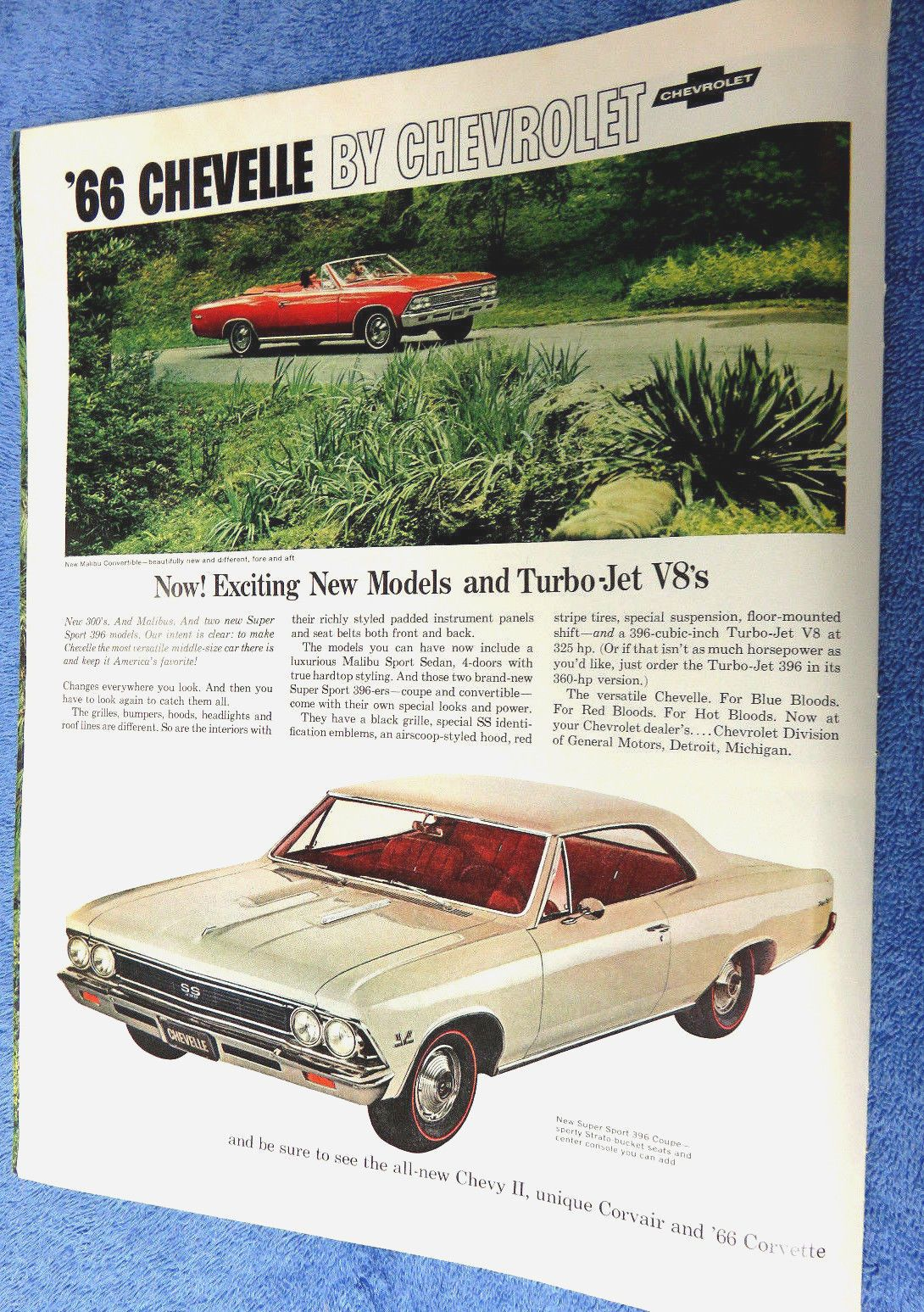 1966 Chevele Ss Sport Coupe Caprice Impala 4 Page Ad 10 1 2 X 14 Chevy Suspension