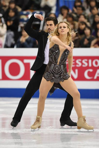 Madison Hubbell and Zachary Donohue of the USA compete in ...