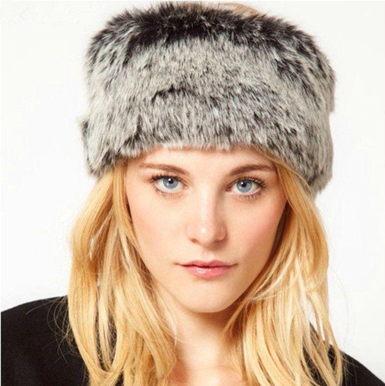 0037f110f03 Winter Fashion Women s No top hat Lady Fluff headwrap Soft Warm Faux Fur  headband Ear Protect Cute Casual Headgear Head ring