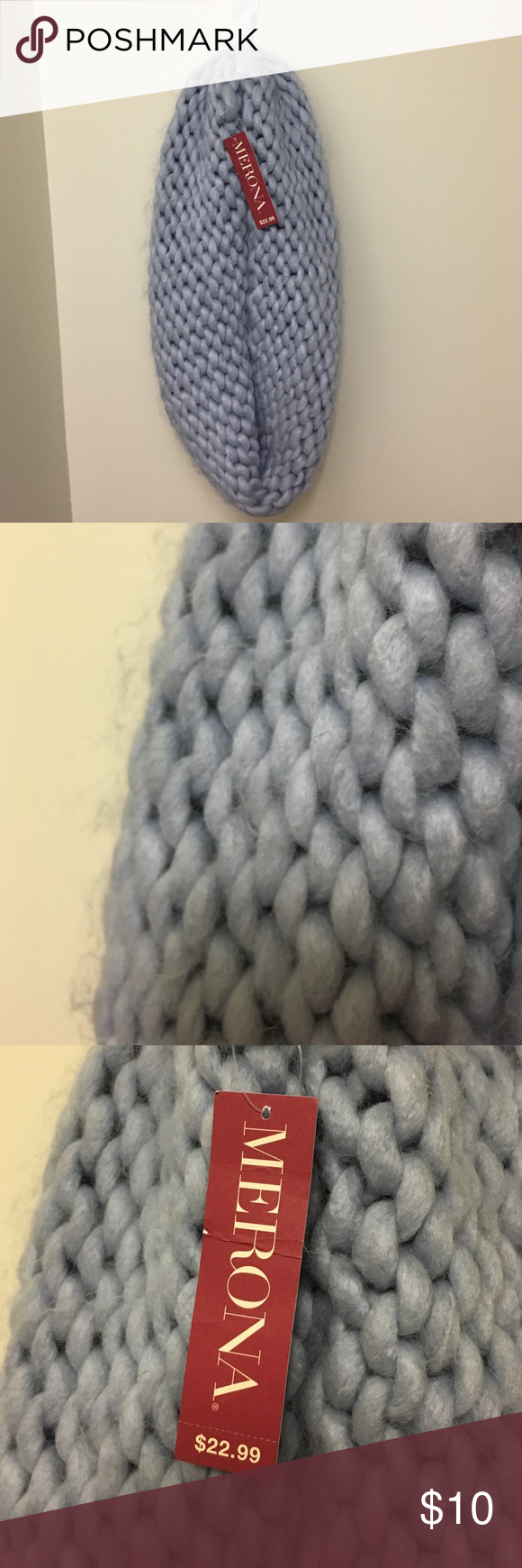 NWT ULTRA SOFT blue infinity scarf This is the softest scarf I've ever felt! Buyer beware, it does shed due to the softness of the material. Merona Accessories Scarves & Wraps