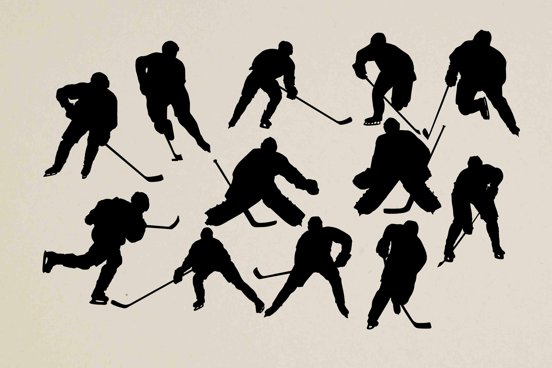 Hockey Silhouettes Hockey Clipart Hockey Svg Hockey Dxf Sports Silhouette Sports Clip Art 12 Ai Eps Dxf Svg Png Buy 2 Get 1 Free Clip Art Silhouette Clip Art Silhouette Svg