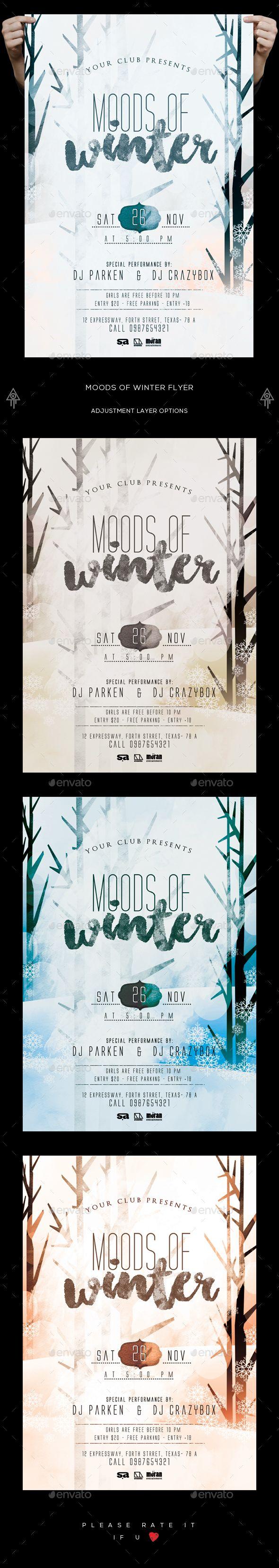 Moods Of Winter Flyer | Navidad 2017, Bajos y Noche