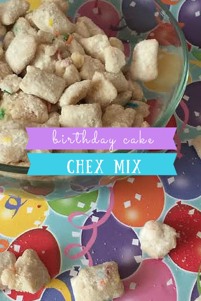Birthday Cake Chex Mix