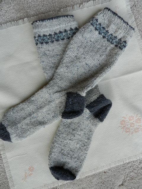 Ravelry: Fair Isle Socks pattern by Sarah Dallas...a nice simple ...