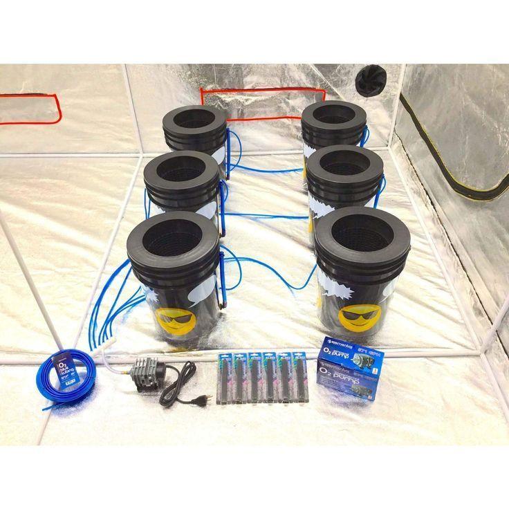 GROJI 6 Plant DWC Hydroponics System   Deep Water Culture Bubbler