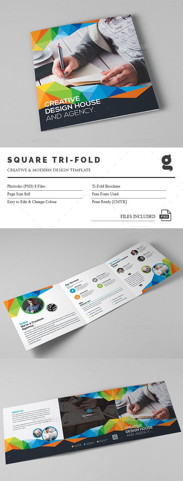 Square Tri Fold Brochure Template Psd Download Here Http