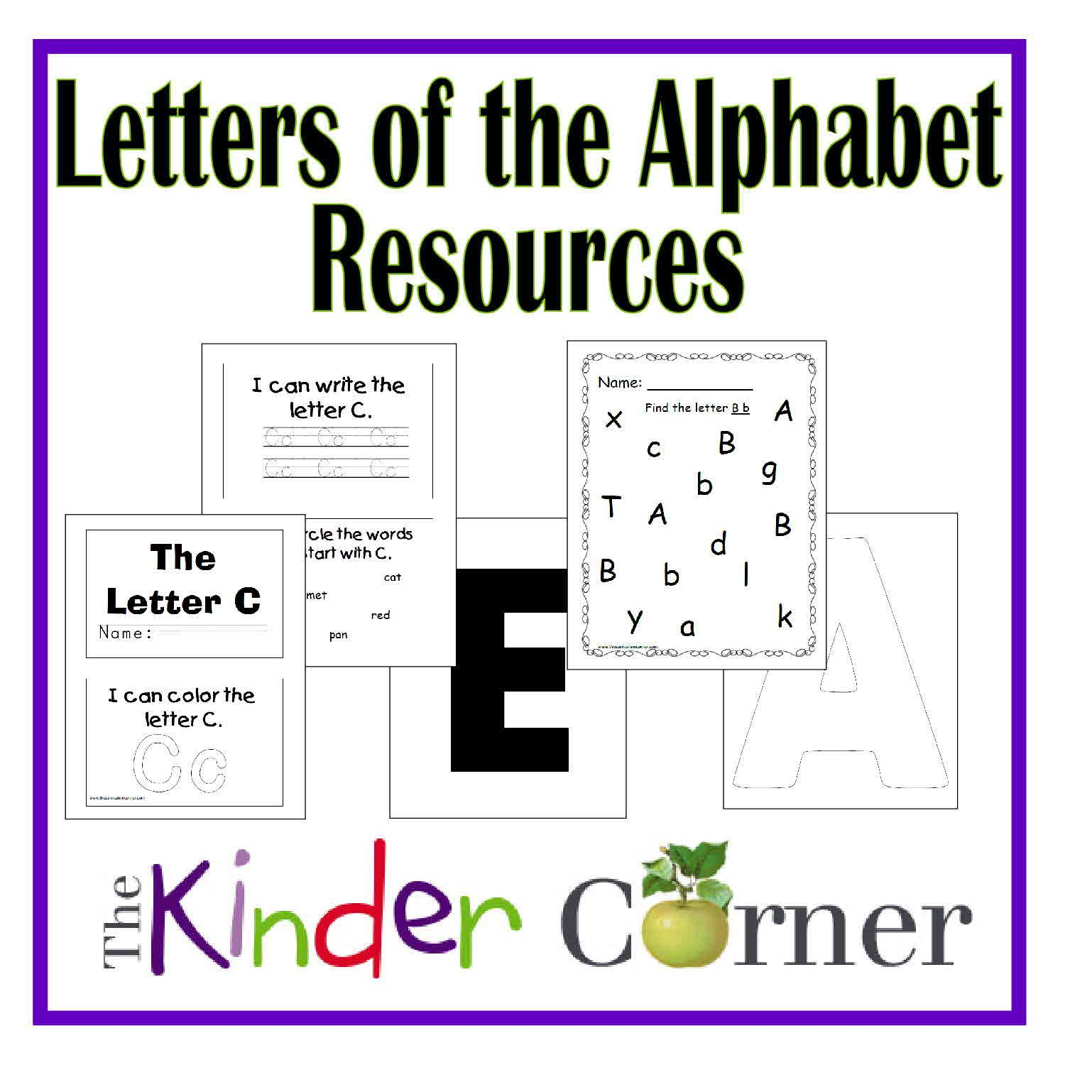 Letters of the alphabet resources curriculum teaching letters letters of the alphabet resources by the curriculum corner spiritdancerdesigns Choice Image