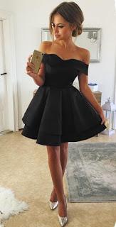 اشيك فساتين قصيره منفوشه Black Homecoming Dress Formal Dresses Short Cute Short Dresses