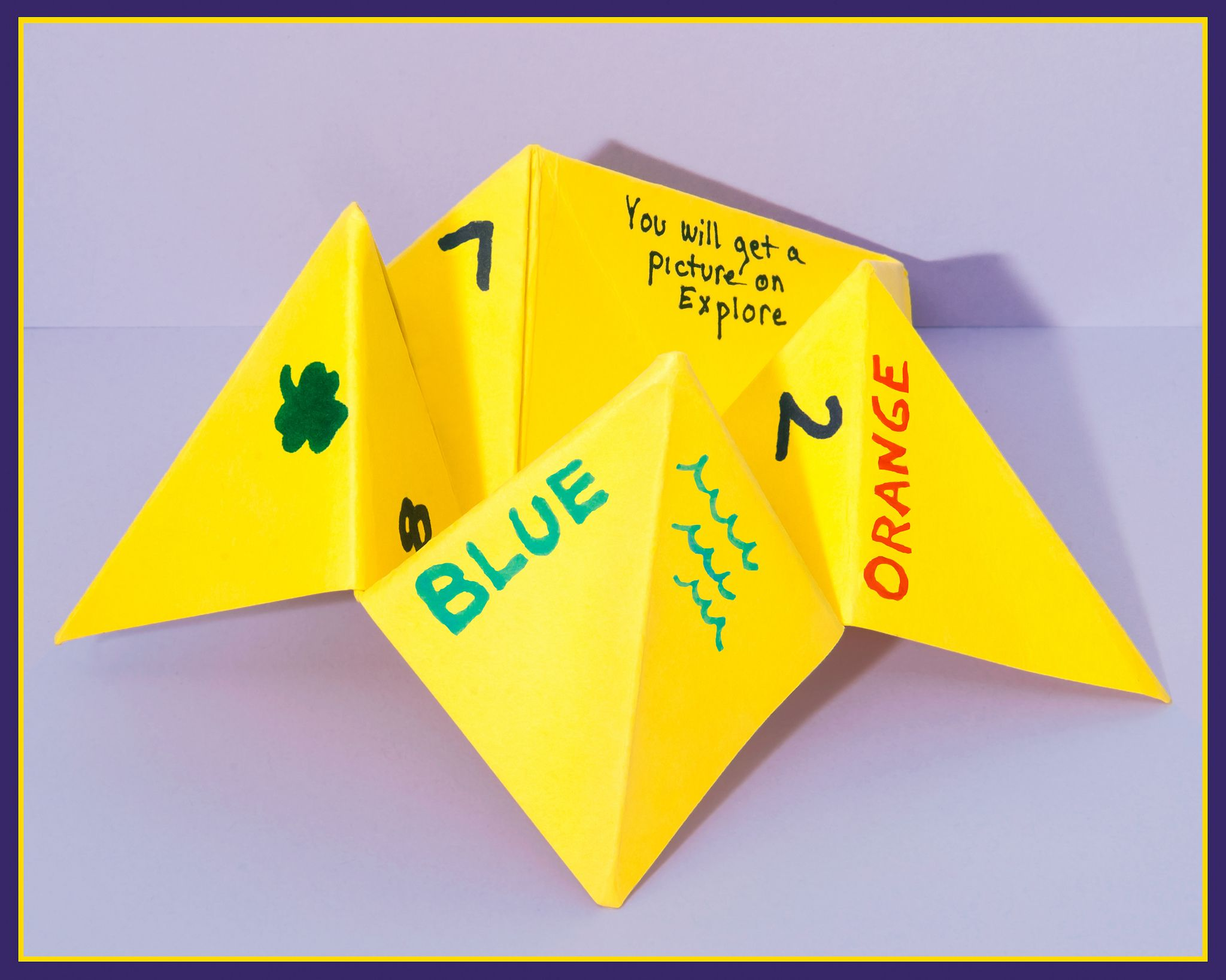 Make a Paper Fortune Teller Origami ExploreLife.Today
