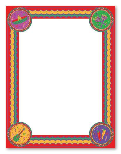 clip art fiesta borders cinco de mayo stationery letterhead