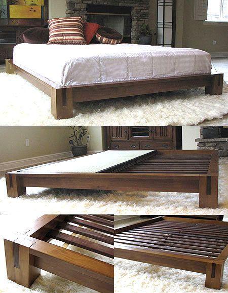 Gentil Tatami Platform Bed   Honey Oak In 2019 | Home | Solid Wood Bed Frame, Tatami  Bed, Bed Frame Design